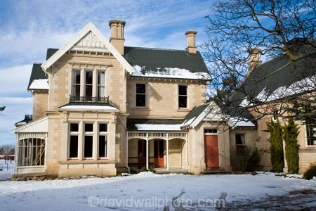 historic house and snow kurow waitaki valley north