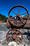 abandon;abandoned;alluvial;discarded;discovered;engine;forgotten;gold;gold-mining;goldminers;goldmining;goldrush;machine;machinery;miners;rivers;rust;rusted;rusty;steam-engine;wheel;wheels
