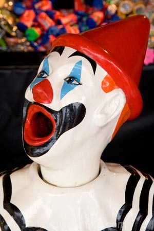amusement;amusement-park;amusement-parks;amusements;ball-game;Bay-of-Plenty;Bay-of-Plenty-District;bright;chance;clown;clown-face;clown-faces;clown-head;clown-heads;clowns-face;clowns-head;clowns;clowns-face;clowns-head;color;colored;colors;colour;coloured;colours;entertainment;face;faces;fair;fairground;fairground-attraction;fairgrounds;fairs;fun;funfair;funfairs;gamble;gambling;game;game-of-chance;games;games-of-chance;laughing-clown;laughing-clowns;mouth;mouths;N.I.;N.Z.;New-Zealand;NI;North-Island;NZ;open-mouth;open-mouths;red;Rotorua;side-show;side-shows;side_show;side_shows;sideshow;sideshows;stall;stalls;white