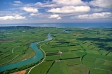 winding;rural;farmland;pasture;pastures;fields;field;agriculture;fertile;paddocks;paddock;farmland;pastureland;arable;meadows;colour;color;colours;colors;green;greens;aerials;rivers;bend;bends
