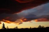 cloud;clouds;dusk;evening;Mossburn;N.Z.;New-Zealand;nightfall;NZ;orange;S.I.;SI;sky;South-Is;South-Island;Southland;Sth-Is;sunset;sunsets;twilight