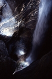 rock;rocks;rocky;climber;climbers;water;rushing-water;canyon;deep;stream;flow;flowing;helmet;helmets;safety-gear;safety-equipment;wet;descent;descend;challenge;falls;falling;bottom;pool