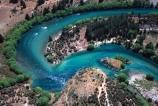 river;rivers;clutha;tree;trees;curve;curves;u;u-curve;u_curve;u-bend;u_bend;hairpin;hair-pin;hairpin-corner;corner;island;islands;mottled;speckly;speckle;speckled;blue_green;blue-green
