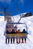 chair-lift;children;daughter;family;father;fours;holiday;lift;mother;queue;sitting;ski;skier;skiers;skiing;skis;son;transport;transportation