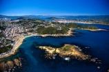 airport;coast;coastal;coastline;shoreline;waves;ocean;sea;capital;rocks;cook;strait