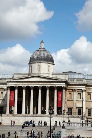 The National Gallery Trafalgar Square London England