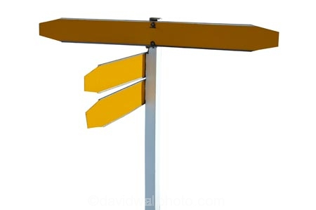 direction;sign;signs;New-Zealand;NZ;signpost;signs;street;traffic;yellow;black;cutout;cut;out