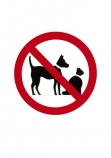 No;Warning;sign;red;black;pets;cat;cats;dog;dogs;cutout;cut;out