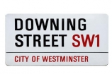 britain;Downing;St;Street;england;great-britain;london;road;sign;SW1;uk;United-Kingdom;cutout;cut;out;City-of-Westminster