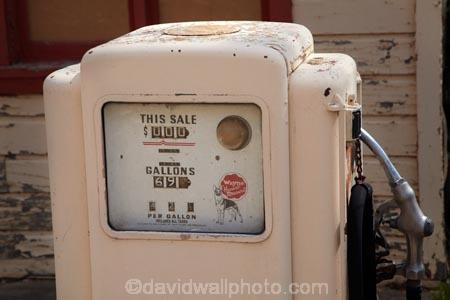 Old gas pump at derelict gas station, Boulder, Garfield