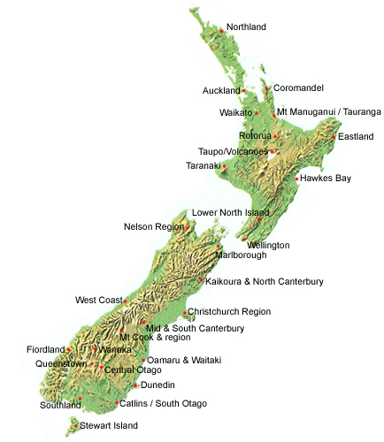New Zealand Mountains Map London Map - Map new zealand