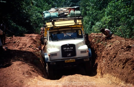 Pothole, Pan African Highway, D R Congo (Zaire), Central Africa
