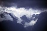 cloudy;mysterious;high;altiutude;peak;peaks;summit;summits;shrouded;mountain;cloud