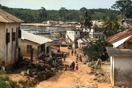 africa;african;africans;coast;sea;ocean;atlantic;ghana;ghanain;african;west-africa;africa;dixcove;dix-cove;historic;historical;gold-coast;slaving;slavery;slave-trade;village;delapidated;run-down-;derelict;village;street;dirt