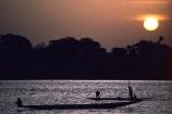 Fisherman;Bani-River;Djenne;Mali;West-Africa;african;fishermen;fishing;pirogue;dugout;dug_out;canoe;silhouette;sunset;river;rivers;mali;malian;sahel