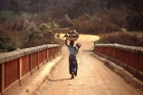 camerouns;cameroon;cameroons;cameroun;West-Africa;africa;african;Bridge;bridges;Lom-River;Garoua-Boulai;Eastern-Cameroun;lady;woman;female;africa;african-;travel;carry;heavy;load;heavy-load;carry-on-head;work;hard-work