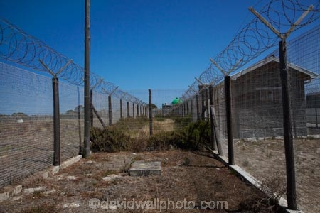Barbed Wire Fence Robben Island Prison Table Bay Cape Town South