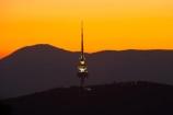 A.C.T.;ACT;Australia;Australian-Capital-Territory;Canberra;capital;capitals;dusk;evening;Mount-Ainslie;Mt-Ainslie;Mt.-Ainslie;nightfall;orange;sky;sunset;sunsets;Telstra-Tower;tower;towers;twilight