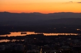 A.C.T.;ACT;Australia;Australian-Capital-Territory;calm;Canberra;capital;capitals;dusk;evening;lake;Lake-BG;Lake-Burley-Griffin;lakes;Mount-Ainslie;Mt-Ainslie;Mt.-Ainslie;nightfall;orange;placid;quiet;reflection;reflections;serene;sky;smooth;still;sunset;sunsets;tranquil;twilight;water