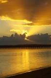 australasia;Australia;australian;coast;coastal;coastline;color;colors;colour;colours;dawn;Fraser-Coast;Hervey-Bay;jetties;jetty;orange;pier;piers;queensland;ray;rays;silhouette;silhouettes;sun-rays;sunrays;sunrise;Urangan-pier;wharf;wharfs;wharves