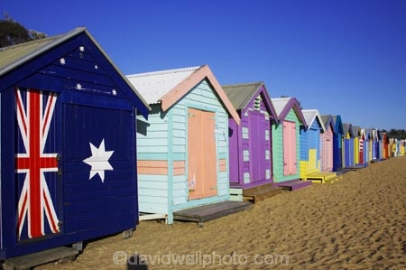 Bathing Boxes Middle Brighton Beach Port Phillip Bay