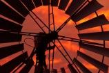 Australasia;Australia;dusk;Emerald-Springs-Road-House;Emerald-Springs-Roadhouse;evening;N.T.;nightfall;Northern-Territory;NT;orange;sky;sunset;sunsets;Top-End;twilight;wind_mill;wind_mills;windmill;windmills