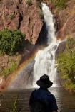 Australasia;Australia;cascade;cascades;creek;creeks;falls;Litchfield-N.P.;Litchfield-National-Park;Litchfield-NP;male;man;men;N.T.;natural;nature;Northern-Territory;NT;people;person;rainbow;rainbows;scene;scenic;stream;streams;Top-End;tourism;tourist;tourists;Wangi-Falls;water;water-fall;water-falls;waterfall;waterfalls;wet