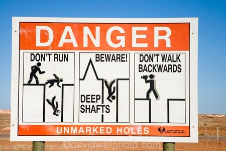 Image result for warning opal mines