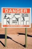 Australasian;Australia;Australian;Australian-Outback;Coober-Pedy;danger-sign;danger-signs;mine;mines;mining;opal-mine;opal-mines;Outback;red-centre;S.A.;SA;sign;signs;South-Australia;warning-sign;warning-signs