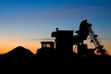 Australasian;Australia;Australian;Australian-Outback;conveyer;conveyers;Coober-Pedy;dusk;evening;excavate;excavator;machine;machinery;machines;mine;mines;mining;mining-machinery;nightfall;opal-mine;opal-mines;opal-mining;orange;Outback;red-centre;S.A.;SA;sky;South-Australia;sunset;sunsets;truck;trucks;twilight