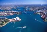 Sydney;Opera;House;Sydney;Harbour;harbor;harbors;harbours;aerials;Bridge;bridges;Australia;aerial;architecture;boat;boats;ferry;ferries;wake