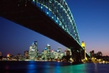 Sydney;Harbour;harbours;harbor;harbors;Bridge;Night;Australia;bridges;light;lights;dusk;twilight;office;offices;Sydney-Harbour-Bridge