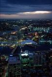 Darling;Harbour;harbor;harbors;harbours;Anzac;Bridge;bridges;Sydney;Tower;Sydney;Australia;dusk;night;light;lights
