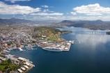 aerial;aerial-photo;aerial-photograph;aerial-photographs;aerial-photography;aerial-photos;aerial-view;aerial-views;aerials;Australasian;Australia;Australian;boat;boats;cruise;Cruise-Ship;Cruise-Ships;cruises;cruising;Derwent-River;Hobart;Hobart-Waterfront;holiday;Holidays;Island-of-Tasmania;Macquarie-Wharf;Queens-Domain;Rhapsody-of-the-Seas;River-Derwent;ship;ships;State-of-Tasmania;Sullivans-Cove;Tas;Tasman-Bridge;Tasmania;tour-boat;tour-boats;tourism;tourist-boat;tourist-boats;travel;Vacation;Vacations;waterfront