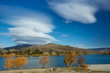 Altocumulus-lenticularis;autuminal;autumn;autumn-colour;autumn-colours;autumnal;blue-skies;blue-sky;Cairnmuir-Ra;Cairnmuir-Range;Central-Otago;cloud;clouds;color;colors;colour;colours;Cornish-Point;Cornish-Pt;Cromwell;deciduous;fall;gold;golden;Kawarau-Arm;lake;Lake-Dunstan;lakes;leaf;leaves;lens_shaped-cloud;lens_shaped-clouds;lenticular-cloud;Lenticular-clouds;N.Z.;New-Zealand;NZ;Otago;S.I.;season;seasonal;seasons;SI;skies;sky;South-Island;Sth-Is;Sth-Is.;tree;trees;yellow