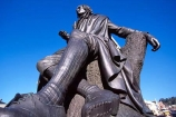 Robert-Burns;Statue;Burns;Octagon;Dunedin;bronze;metal;grey;slate;still;blue;sky;poet;poets;poetry;academic;settler;colony;colonial