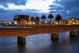 dusk;Eastland;evening;Gisborne;N.I.;N.Z.;New-Zealand;NI;night;night-time;North-Is;North-Is.;North-Island;NZ;railway-bridge;railway-bridges;Turanganui-River;twilight