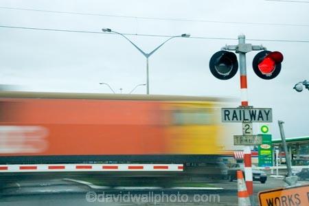 Railway Crossing, Fielding, Manawatu, North Island, New Zealand