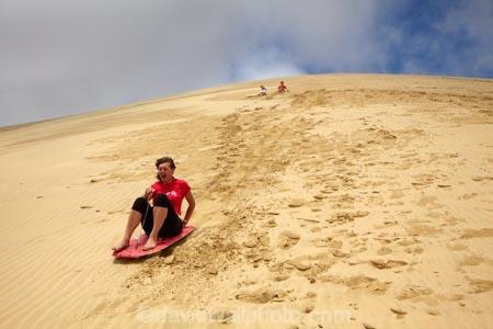 Sand Boarding Te Paki Sand Dunes Far North Northland