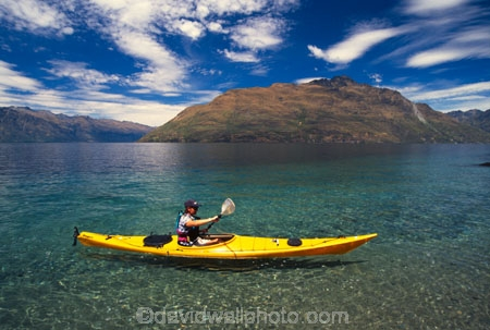 kayak;kayaks;kayaker;kayakers;water;clear;clean;transparent;paddle;paddler;paddlers;paddling;paradise;beautiful;lakes;lake;adventure;adventure-tourism;recreation;outdoors;outdoor;outside;relax;relaxing;yellow;boat;pristine;summer;holiday;holidays;vacation;vacations;wakatipu;queenstown;south-island;new-zealand