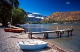 Queenstown;Central-Otago;Lake-Wakatipu;Wakatipu;Frankton;lake;ramp;boat;boats;boat-ramp;seagull;seagulls;shore;beach;mountain;mountains;summer;holiday;tourism;tree;trees;still;serene