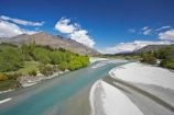 braided;clean-clear;N.Z.;New-Zealand;NZ;Otago;Queenstown;river;rivers;S.I.;Shotover-River;SI;South-Island;water