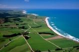 New-Zealand;coast;coastal;coastline;shore;shoreline;beach;beaches;sand;sandy;waves;wave;sea;ocean;Pacific;bay;colour;color;farmland;rural;marine;rugged;aerials