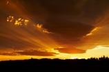 cloud;clouds;dusk;evening;light-rays;Mossburn;N.Z.;New-Zealand;nightfall;NZ;orange;S.I.;SI;sky;South-Is;South-Island;Southland;Sth-Is;sun-rays;sunset;sunsets;twilight