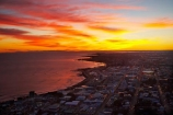 aerial;aerial-photo;aerial-photograph;aerial-photographs;aerial-photography;aerial-photos;aerial-view;aerial-views;aerials;break-of-day;CBD;Central-Business-District;cities;city;coast;coastal;coastline;coastlines;coasts;dawn;dawning;daybreak;first-light;morning;N.I.;N.Z.;New-Plymouth;New-Zealand;NI;North-Is;North-Is.;North-Island;North-Taranaki-Bight;NZ;ocean;orange;sea;shore;shoreline;shorelines;shores;sunrise;sunrises;sunup;Taranaki;Tasman-Sea;twilight;water;waterfront