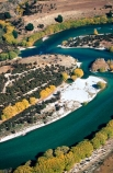 rivers;landscape;Clutha;winding;curve;curving;river-course;central-otago;riverbank;shore;poplars