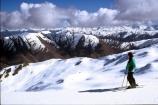 mountain;mountains;ski-field;skier;skiers;skifield;skiing;snow;view