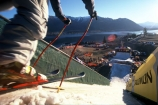 boots;down;fast;get-set;go;high;Lake-Wanaka;poles;prepared;ready;ski;ski-poles;skiboots;skiers;skiing;skis