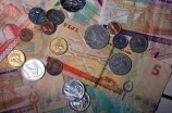 money;coin;coins;note;notes;bill;dollar;dollars;cent;cents;twenty;20;fifty;50;ten;10;colour;color;colours;colors;shiny;shine;reflect;reflection