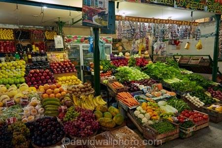 Produce stall, San Telmo Market, San Telmo, Buenos Aires